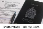 application for a permanent... | Shutterstock . vector #1017513826