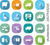 flat vector icon set   delivery ... | Shutterstock .eps vector #1017514210