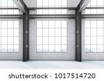 empty loft office interior in a ... | Shutterstock . vector #1017514720
