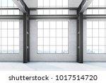 empty loft office interior in a ... | Shutterstock . vector #1017514720