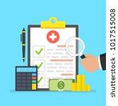 medical insurance  medical care ... | Shutterstock .eps vector #1017515008