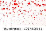 background with flying red... | Shutterstock . vector #1017515953