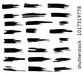 grunge ink brush strokes set....   Shutterstock .eps vector #1017519778