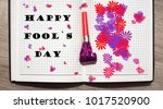 day of laughter. fool's day.... | Shutterstock . vector #1017520900