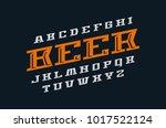decorative italic serif font.... | Shutterstock .eps vector #1017522124