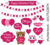 valentine s day vector design...   Shutterstock .eps vector #1017522874