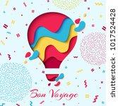 bon voyage paper art concept of ...   Shutterstock .eps vector #1017524428