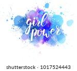 multicolored splash watercolor... | Shutterstock .eps vector #1017524443