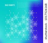 bad habits concept in... | Shutterstock .eps vector #1017526168