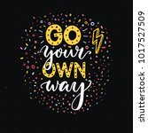 go your own way. motivational... | Shutterstock .eps vector #1017527509