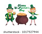 image of a leprechauns in... | Shutterstock .eps vector #1017527944