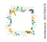 vector floral seaweed square...   Shutterstock .eps vector #1017530170