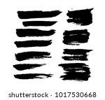 brush strokes. ink painting.... | Shutterstock .eps vector #1017530668