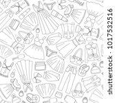 seamless fashion pattern.... | Shutterstock .eps vector #1017532516