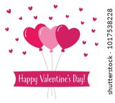 valentines day vector greeting... | Shutterstock .eps vector #1017538228