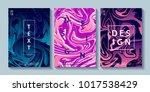 set of creative design posters... | Shutterstock .eps vector #1017538429
