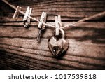 old photo happy valentine's day ... | Shutterstock . vector #1017539818