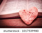 bible and happy valentine's day ... | Shutterstock . vector #1017539980
