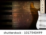 abstract brown grunge music... | Shutterstock .eps vector #1017540499