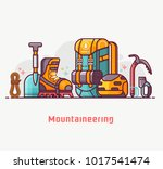 climbing and mountain hiking... | Shutterstock .eps vector #1017541474