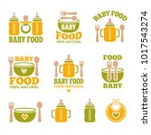 a set of logos with accessories ... | Shutterstock .eps vector #1017543274