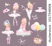 beautiful ballet girl ... | Shutterstock .eps vector #1017548008