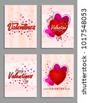 happy valentines day card... | Shutterstock .eps vector #1017548053