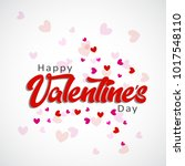 happy valentines day card... | Shutterstock .eps vector #1017548110