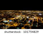 Las Vegas City Viewed At Night...