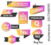 collection of sale discount... | Shutterstock .eps vector #1017548590