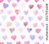 seamless watercolor pattern... | Shutterstock . vector #1017551608