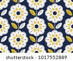 Stock vector seamless floral pattern in scandinavian style 1017552889