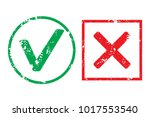 tick and cross rubber stamp... | Shutterstock .eps vector #1017553540