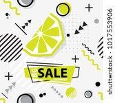 trendy seamless  memphis style  ... | Shutterstock .eps vector #1017553906