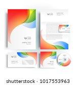 corporate identity design... | Shutterstock .eps vector #1017553963