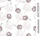 pretty vintage feedsack pattern ... | Shutterstock . vector #1017555574