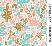 terrazzo seamless pattern.... | Shutterstock .eps vector #1017556084