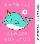 Cute Narwhal Cartoon...