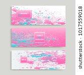 pastel pink cyan explosion... | Shutterstock .eps vector #1017559018