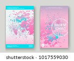 pastel pink cyan explosion... | Shutterstock .eps vector #1017559030