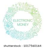 modern linear concept of... | Shutterstock .eps vector #1017560164