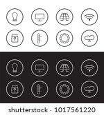 smart car icons. smart home...   Shutterstock .eps vector #1017561220