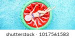 top view of young woman... | Shutterstock . vector #1017561583