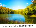 shot of beautiful lake with... | Shutterstock . vector #1017562720