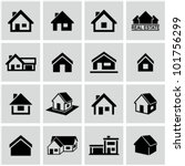 houses icons set. real estate. | Shutterstock .eps vector #101756299