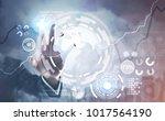 hand of a businessman... | Shutterstock . vector #1017564190