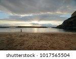 evening landscape. clouds over... | Shutterstock . vector #1017565504