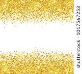 gold glitter placer on white... | Shutterstock . vector #1017567253