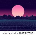 80s retro future. retro... | Shutterstock .eps vector #1017567538