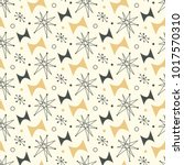 mid century modern seamless... | Shutterstock .eps vector #1017570310
